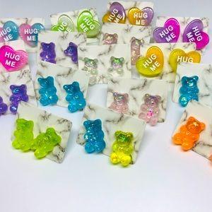 Candy Cute Kawaii handmade Stainless Stud Earrings